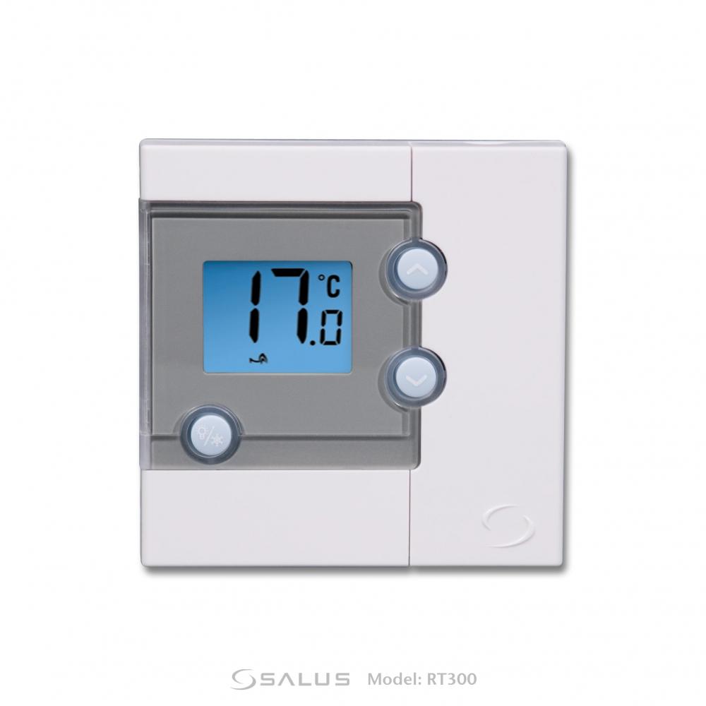 Проводной электронный суточный комнатный термостат Salus RT300  - 2