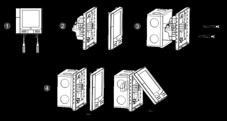 Термостат для котла T-eco TE810WHL-7 проводной недельный программируемый терморегулятор - 1