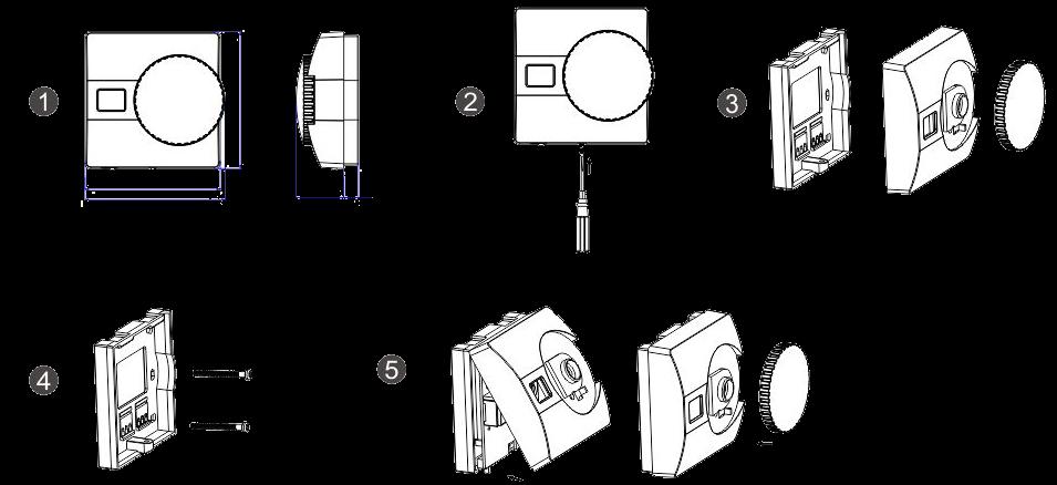 Проводной цифровой термостат TE816WHB-0 - 1