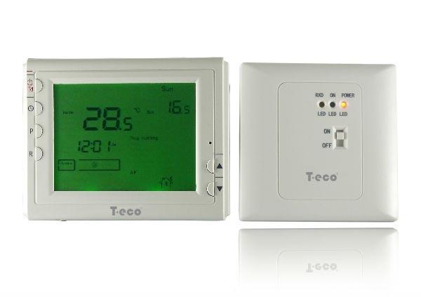 Беспроводной комнатный термостат T-eco TE908WHB-7-RF недельный программатор - 1