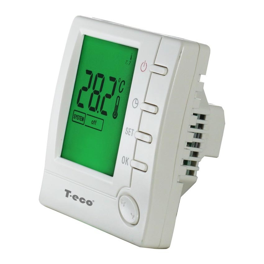 Комнатный термостат T-eco TE803WHL-7 проводной недельный программируемый терморегулятор - 3