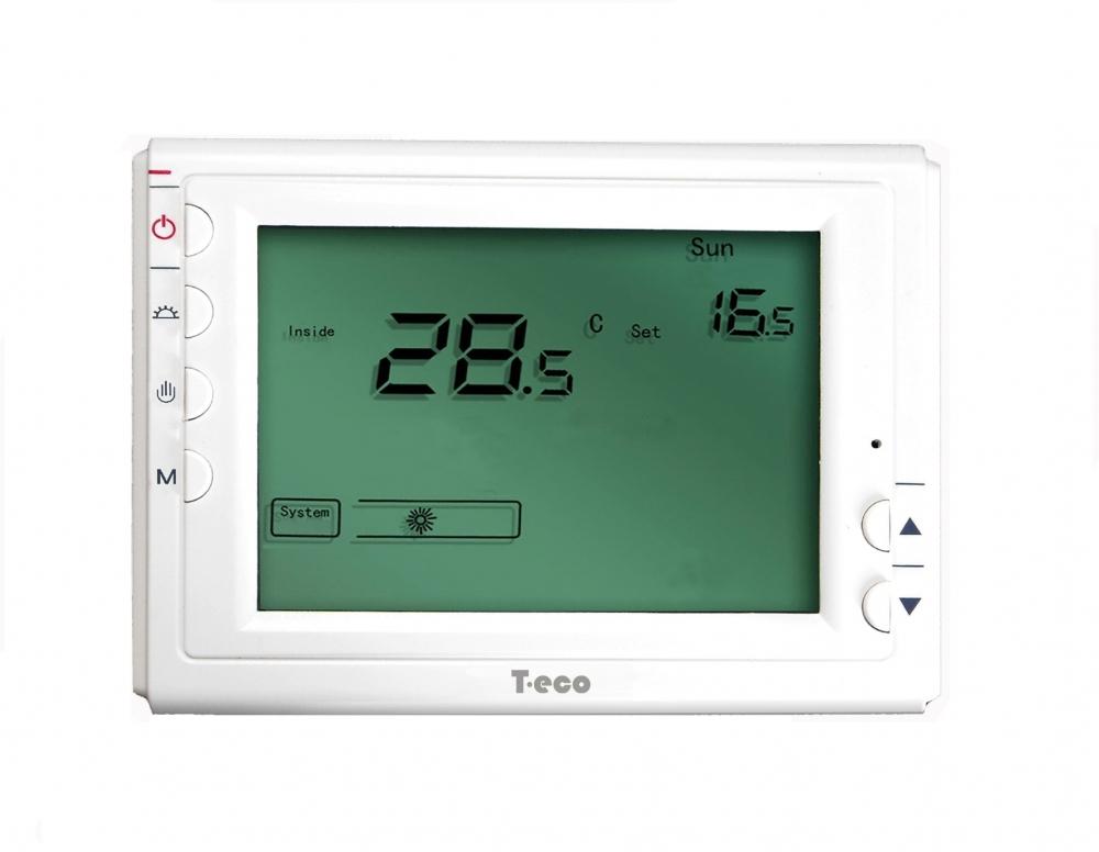 Комнатный термостат T-eco TE908XWHB-7-DF беспроводной терморегулятор доя SCU209DE  - 1